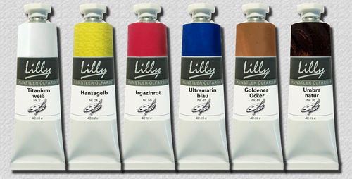 Oilpaint set 6-tubes 40 ml